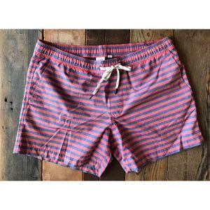 GAP Swim Trunks in Faded Red/Navy Stripe